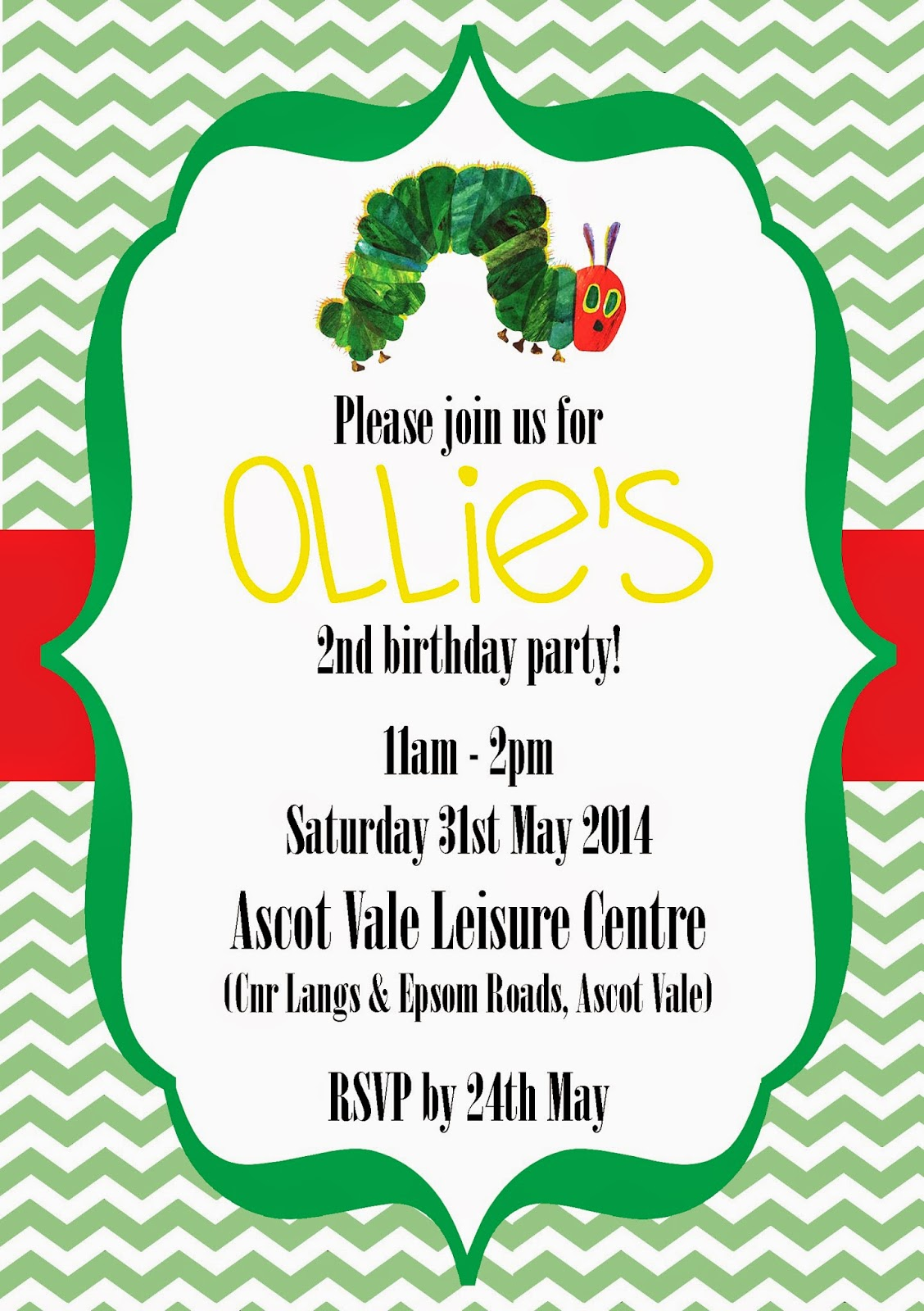 Ollie\'s Very Hungry Caterpillar Birthday