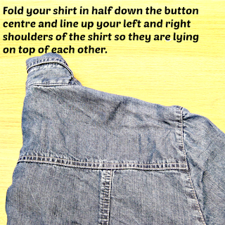 Denim shirt folded