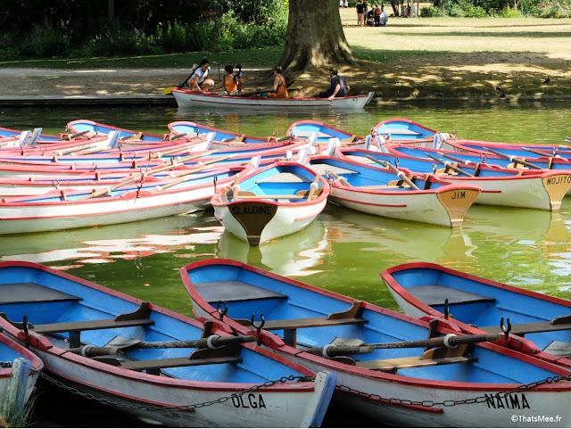 Lac Daumesnil, Bois de Vincennes barques