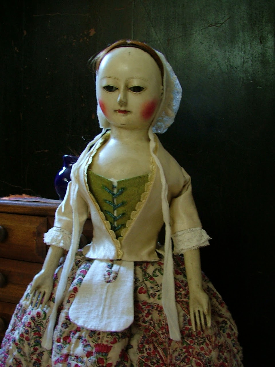 "Prudence, 16"" Wooden Queen Anne Doll Reproduction"