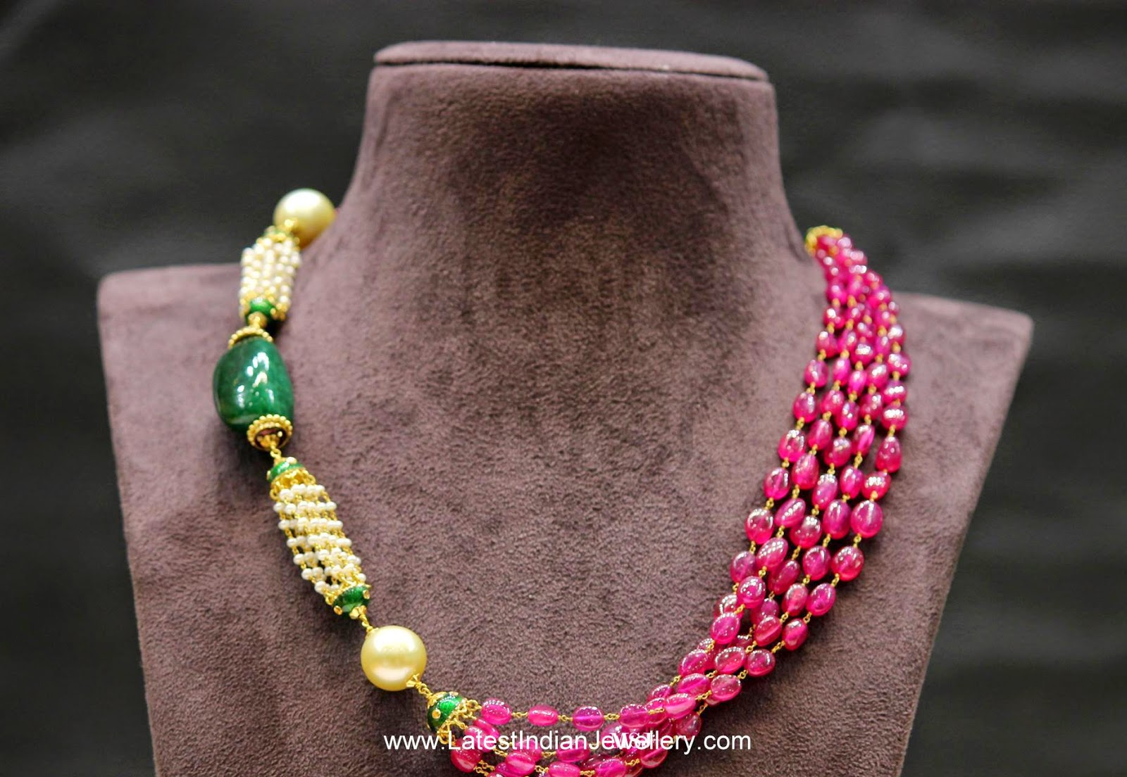 Fancy Ruby Beads necklace