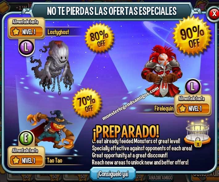 imagen de la oferta especial de carnavales de monster legends