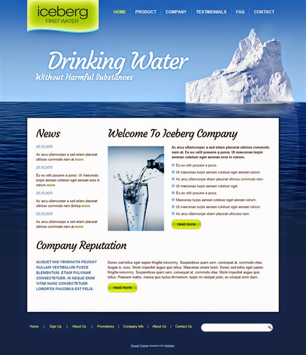 Iceberg - Free Drupal Theme