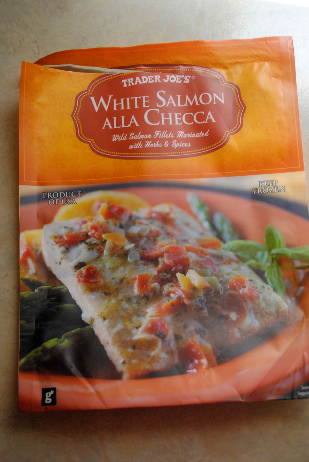 Educook product review trader joe 39 s white salmon alla checca for Trader joes fish