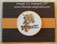 Card with Woodgrain embossing folder and Stampin'UP! Lovely as A Tree Stamp Set. - image center