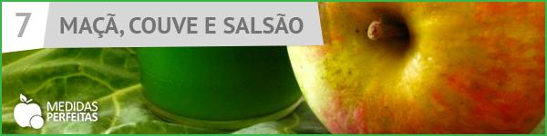 Suco de Maçã, Couve e Salsão - Receitas de Sucos Detox