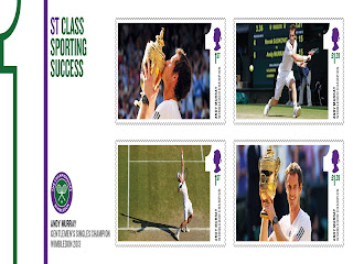 ROYAL MAIL CELEBRATES ANDY MURRAY'S HISTORIC WIMBLEDON WIN WITH SPECIAL STAMPS