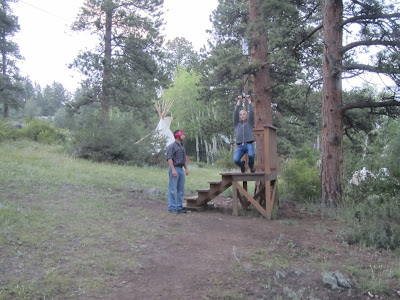 Ziplining in Estes Park