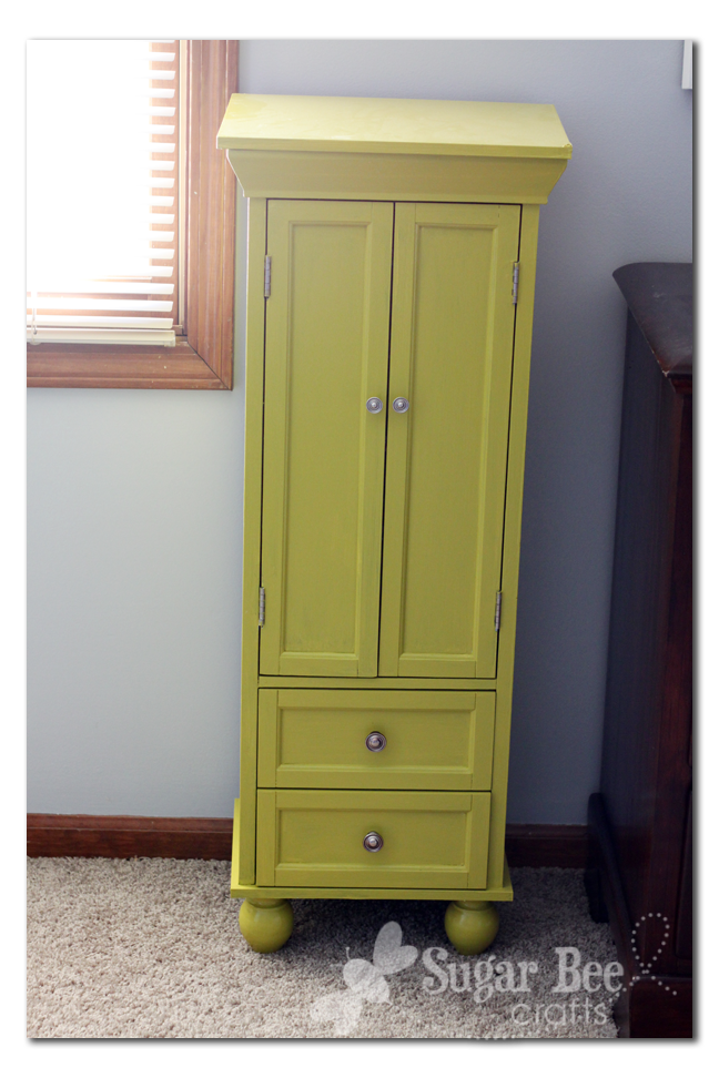 I Wanted A Tall Jewelry Cabinet. I Have The Bright Nightstands, And Thought  A Jewelry Armoire In The Same Color Would ...