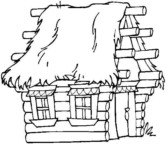dibujos para colorear chozas y cabaas