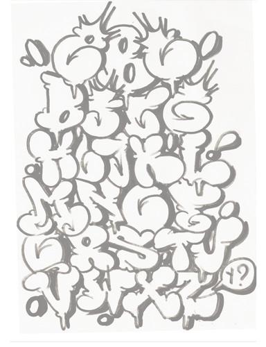 Kuntol Bares How To Graffiti Alphabet