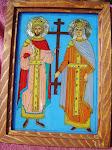 Sfinții Constantin și Elena - Icoană pe sticlă 2013