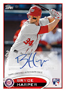 Topps Announces Bryce Harper 2012 Rookie And Autograph Card Plans