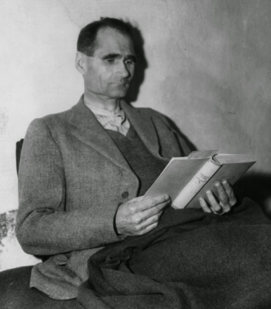 abwehr ier executioner pro lifer rudolf hess reading the book jugend by ernst claes in landsberg prison