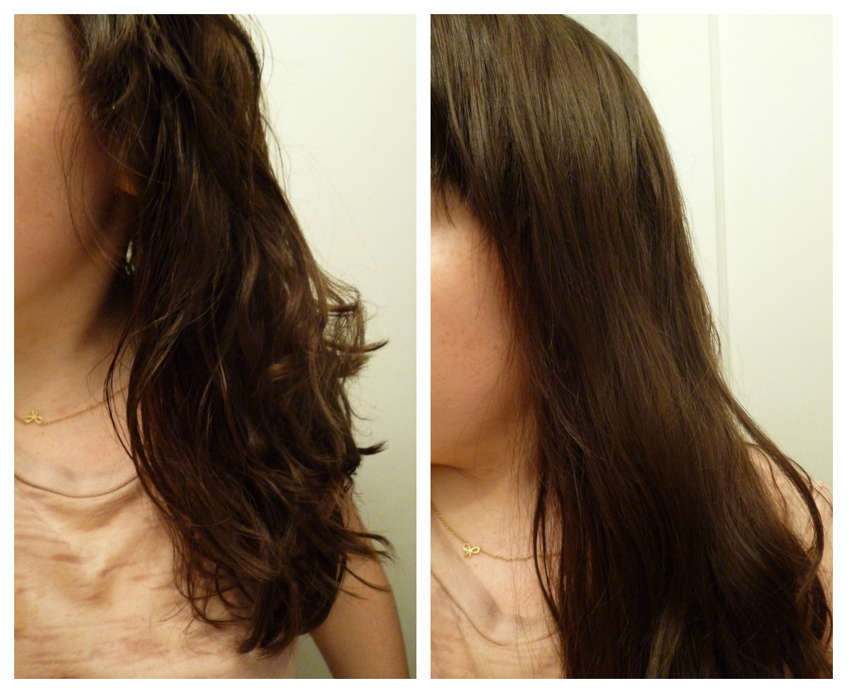 Flat Iron Hair Before and After