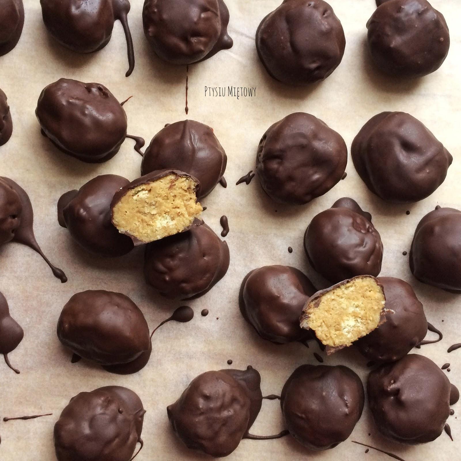 czekoaldki, ptysiu mietowy