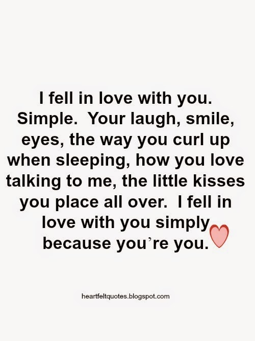 I fell in love quotes