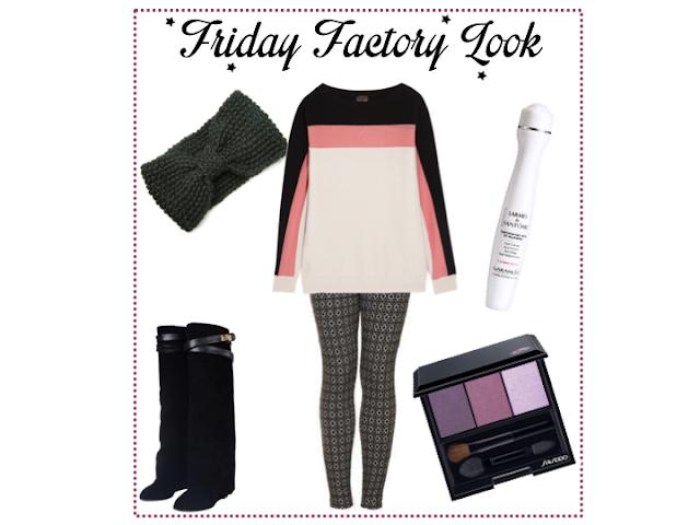 Sweater Fendi, Legging Topshop, Palette Shiseido, Bottes PersunMall