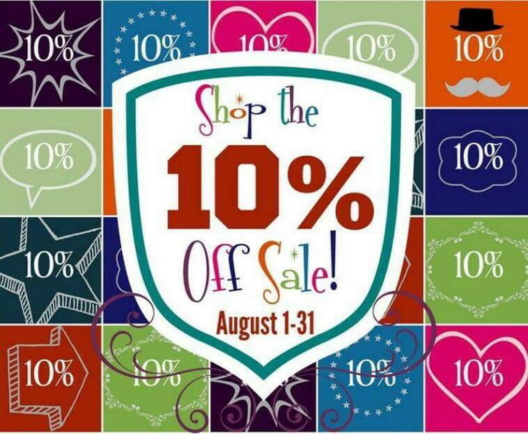 10% off till August 31st 2015