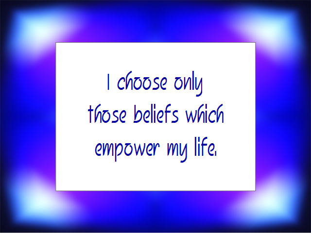 BELIEF affirmation