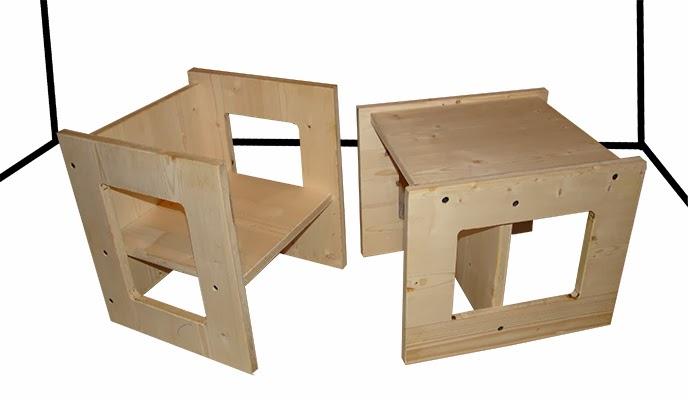 Sgabelli per bambini in derivati del legno archiproducts