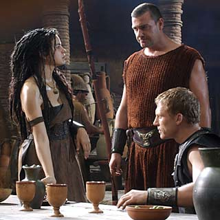 ... where he joined forces with Cleopatra against Octavian.