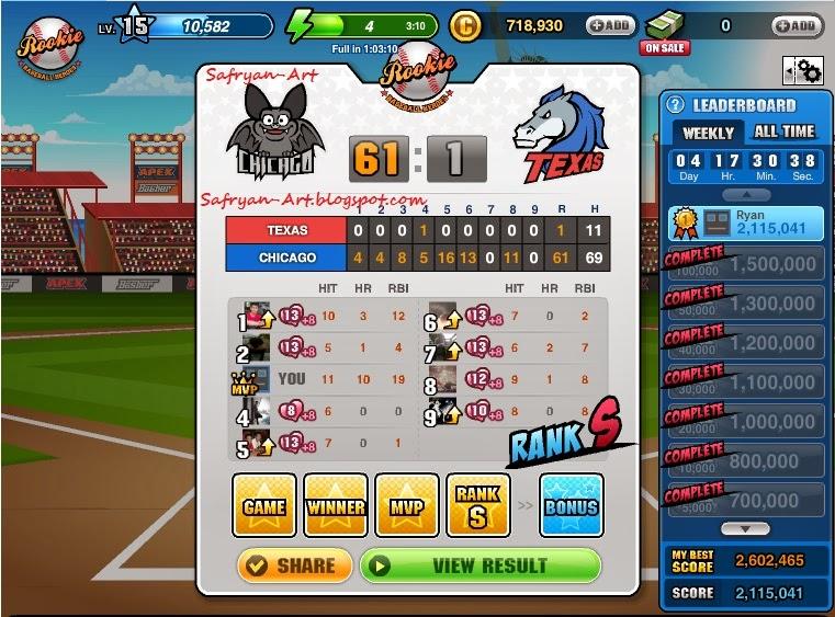 Cheat Baseball Heroes 100% Work