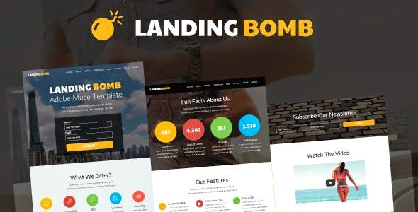 Landing Page Muse Template 2015