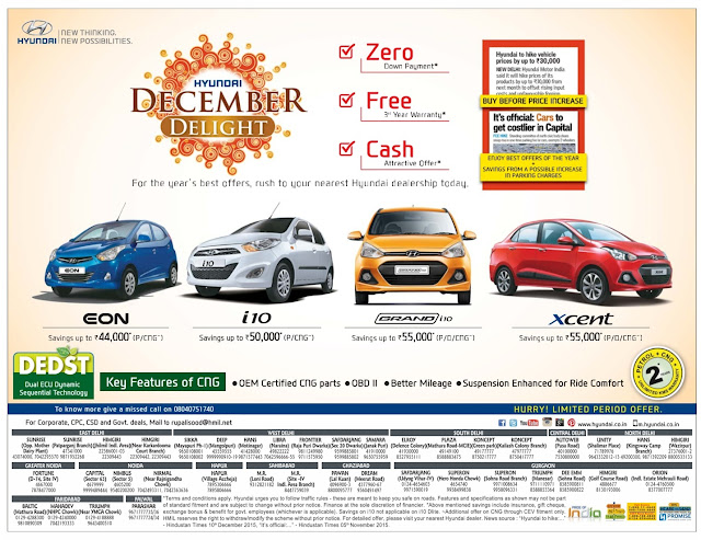 Hyundai December Delight Offers and Discounts | Limited period offer