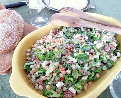 Broccoli and Chick Pea Salad