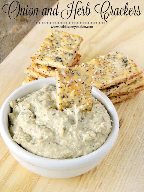 Onion and Herb Crackers from www.bobbiskozykitchen.com