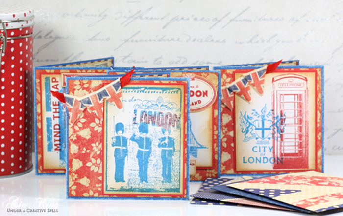 Papermania Portobello Road handmade vintage note cards