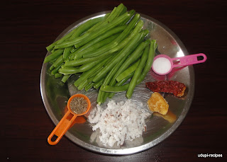 beans palya ingredients