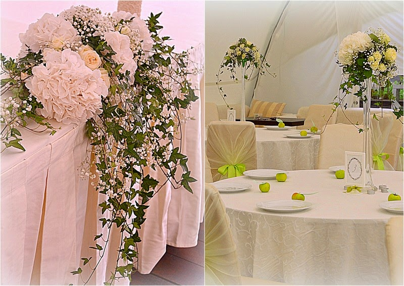 декор стола президиума цветами