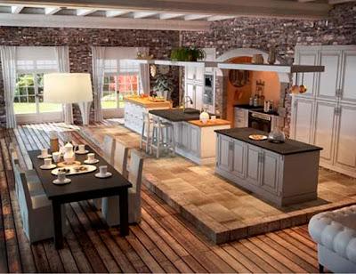 Muebles y decoraci n de interiores cocina r stica francesa for Decoracion rustica de interiores