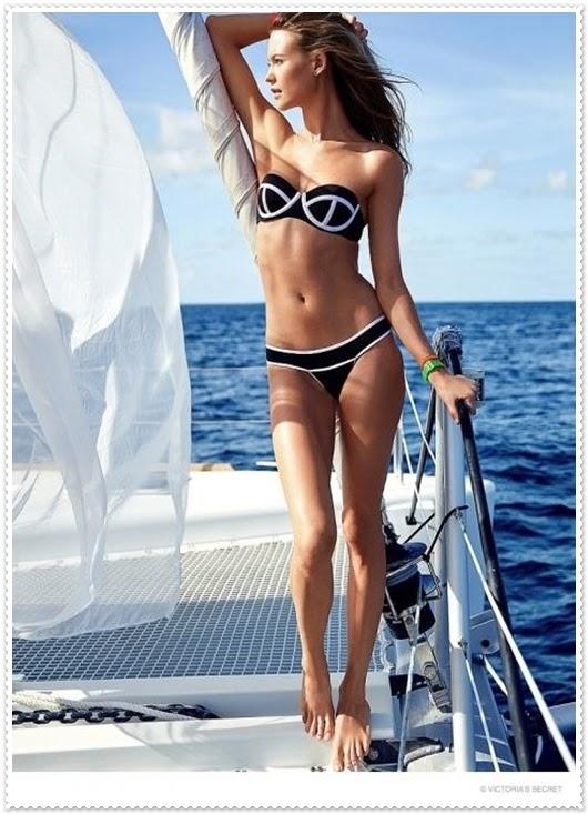 Behati Prinsloo und Victoria Secrets Badeanzug Kollektion 2015