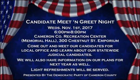 11-1 Cameron County Meet & Greet Candidates
