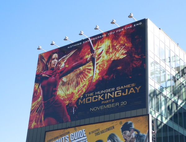 Giant Hunger Game Mockingjay 2 billboard