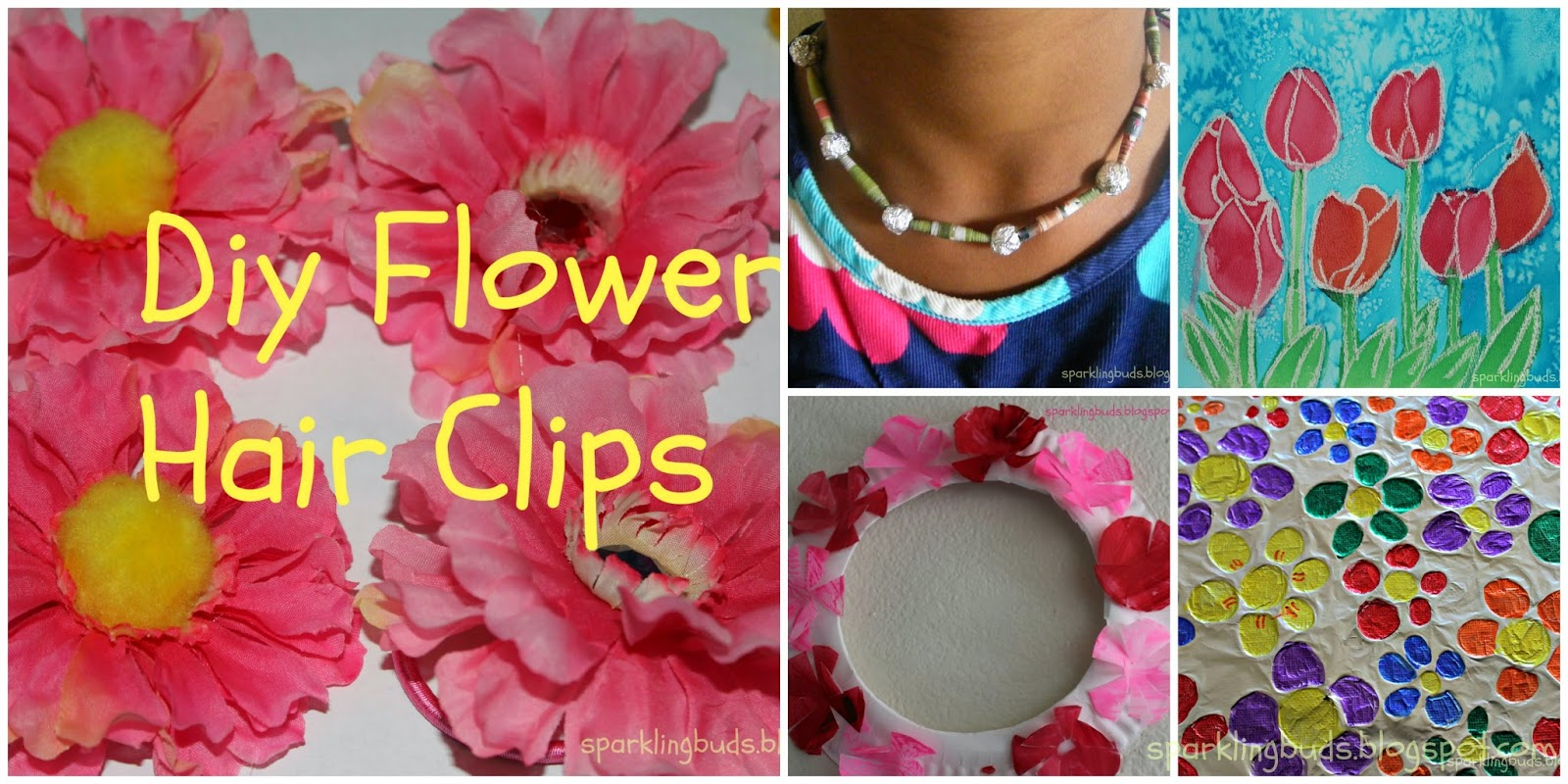 Fake flowers for crafts - Diy Flower Hair Clips Hair Clips From Artificial Flowers