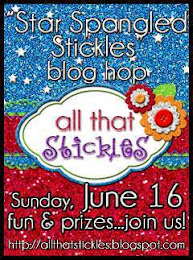All That Stickles blog hop, Sunday, June 16
