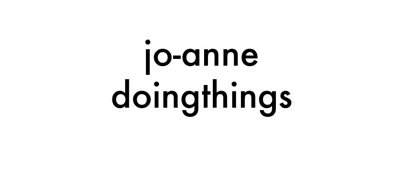 jo-anne doing things