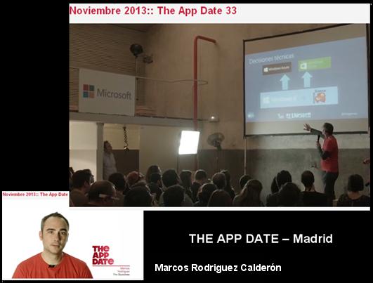 """MARCOS RGUEZ. CALDERÓN en """"THE APP DATE 33 - NOV. 2013"""""""