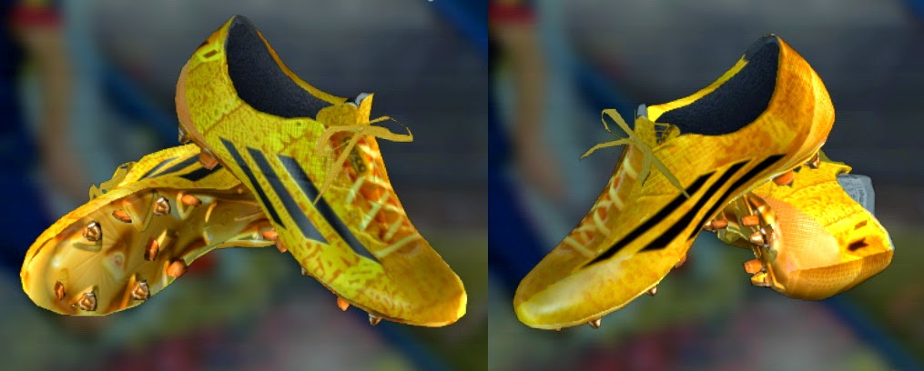 PES 2013 Adizero F50 Messi GoldBlack Boots by Georg1nh00