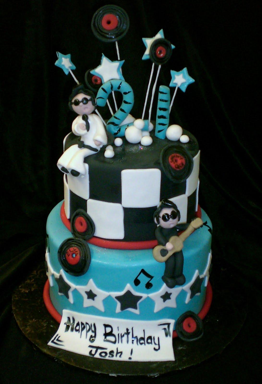 The Crimson Cake Blog Elvis And Johnny Cash Cake