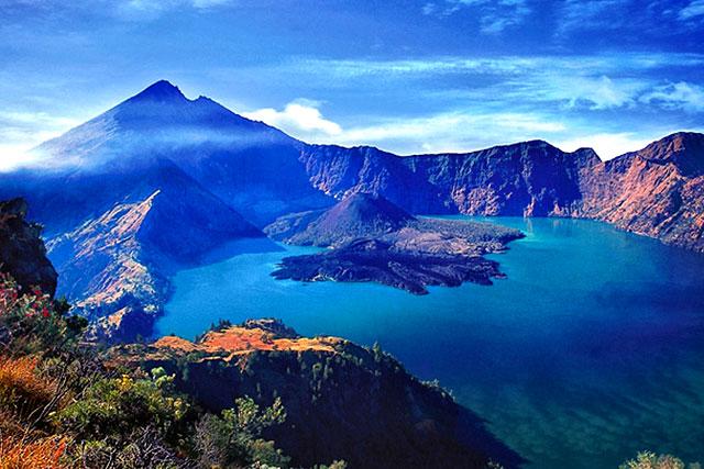 Pemandangan Danau Segara Anak Di Gunung Rinjani lombok