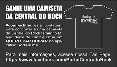 promoção aniversário 4 anos central do rock ganhe uma camiseta