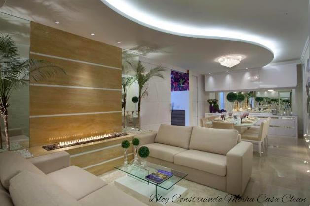 Qual Lustre Usar Na Sala De Estar ~  na sala de estar e um lindo plafon de cristais na sala de jantar