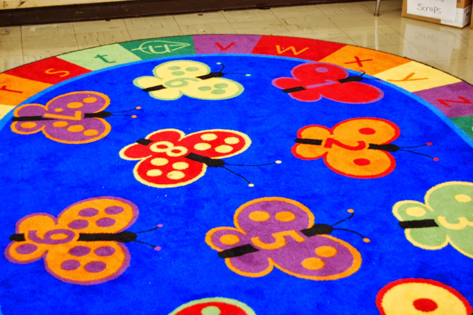 Ladybug rug at JF Kennedy School