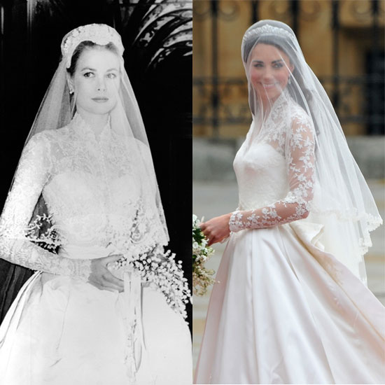 Grace kelly wedding dress back