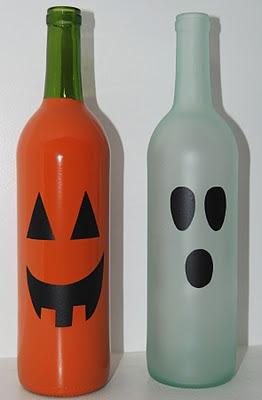 Decorazione di halloween da riciclo creativo bottiglie